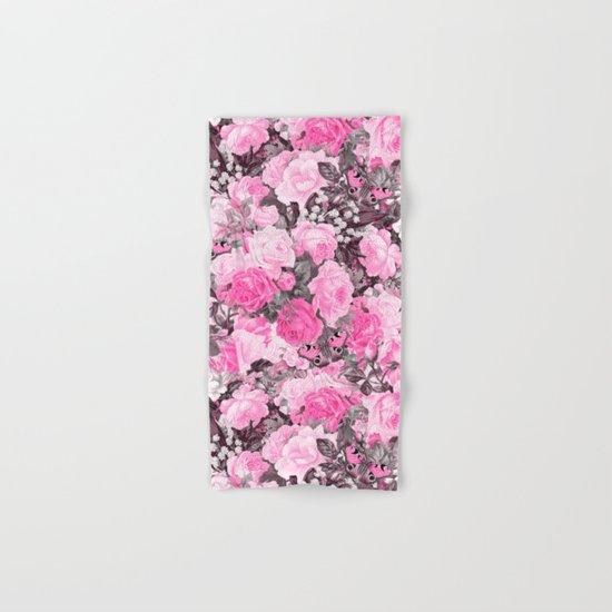 Floral pink vintage pattern Hand & Bath Towel