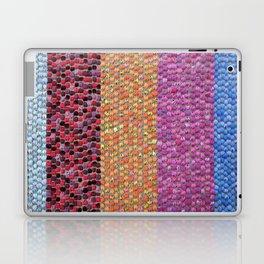 Textile Stripes and Dots Design - Landscape Orientation Laptop & iPad Skin