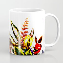 Saturated Floral on White Coffee Mug