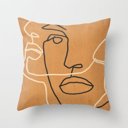 Abstract Face 6 Throw Pillow