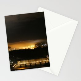 Captured and Claimed Light by the City at Night Stationery Cards