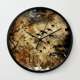 Life In Midst Of Chaos Wall Clock