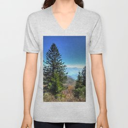 Blue Ridge Mountains North Carolina Unisex V-Neck
