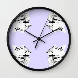 Purple Glitch Scrunch Quad Wall Clock