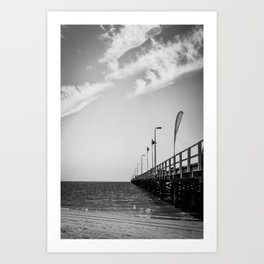 Jetty in Black and White Art Print