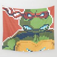 ninja turtles Wall Tapestries featuring Teenage Mutant Ninja Turtles - Raphael by James Brunner