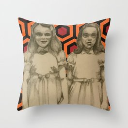 come play with us. Throw Pillow