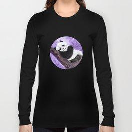 Panda bear sleeping Long Sleeve T-shirt