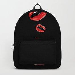Red vampire lips Backpack