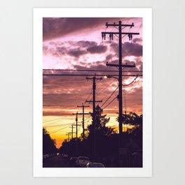 Sunpoles Art Print