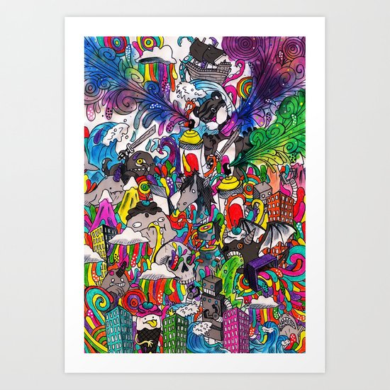 Grayscale Art Print