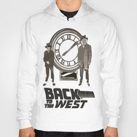 back to the future Hoodies featuring BACK TO THE FUTURE by Rocky Rock