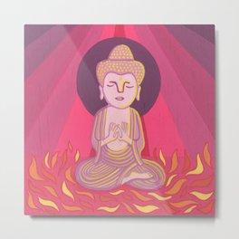 Buddha H Metal Print