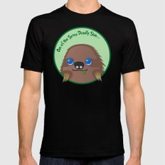 Adorable Sloth Mens Fitted Tee Black MEDIUM