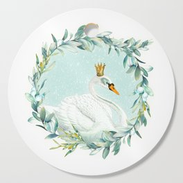 White Swan Cutting Board