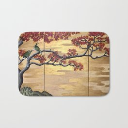 Japanese Fall Leaves Bath Mat