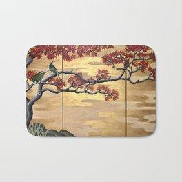 Japanese Fall Leaves Bath Mat
