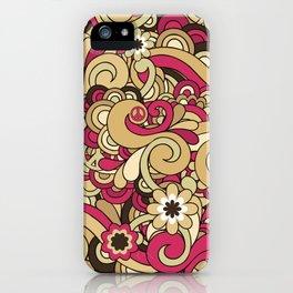 Vintage Hippie Swirl Pattern iPhone Case