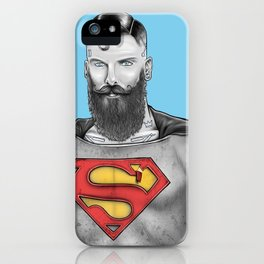 Super Bearded Reeve iPhone Case