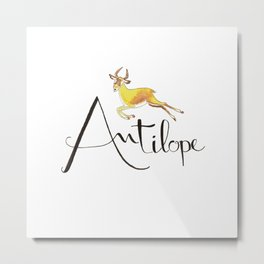 A like Antilope Metal Print