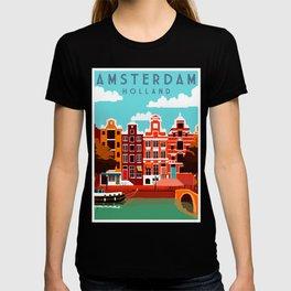 Vintage Amsterdam Holland Travel T-shirt