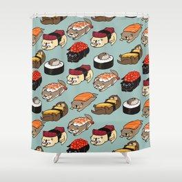 Sushi Otter Shower Curtain