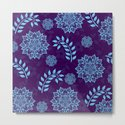 Mandalas & Leaves Pattern Blue Purple by inspiredimages