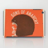 sons of anarchy iPad Cases featuring Sons of Anarchy Skull Helmet by Ryder Doty