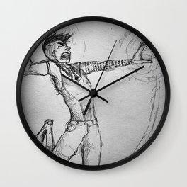 Hugin fighting with magic Wall Clock