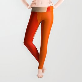 Geometric Abstraction in Red and Orange Leggings