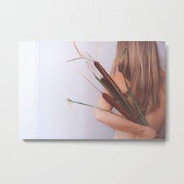 Give, Woman with Plants, Feminine Energy Metal Print