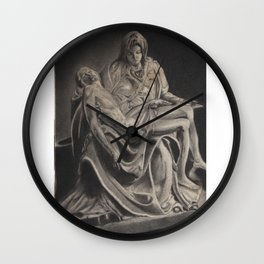 Statue -in charcoal Wall Clock