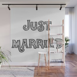 Just Married Wall Mural