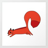 Red Squirrell Art Print