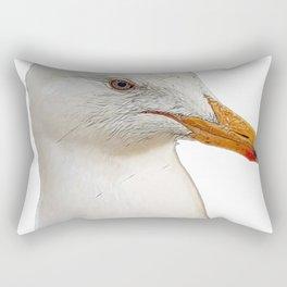Seagull Face Bird Hesitant Observer Fledged Face Duh Rectangular Pillow