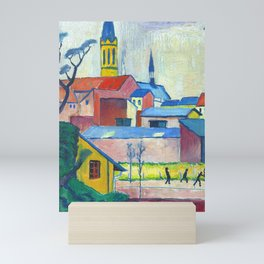"August Macke ""Marienkirche (Mary's church)"" Mini Art Print"
