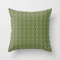 hiking Throw Pillows featuring Hiking Tune by Bob Greenwade