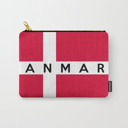 denmark country flag danmark name text Carry-All Pouch