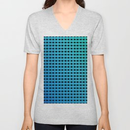 Small and little bluish pattern Unisex V-Neck