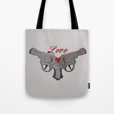 Love Guns Tote Bag