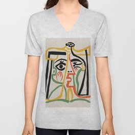 Picasso - Woman's head #1 Unisex V-Neck