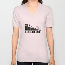 Cell Phone Evolution Unisex V-Neck