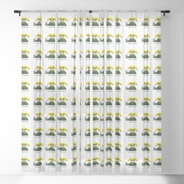 ORGANIC INVENTIONS SERIES: Vintage Banana Phone Sheer Curtain