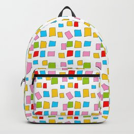 rectangle and abstraction 3-mutlicolor,abstraction,abstract,fun,rectangle,square,rectangled,geometri Backpack