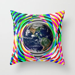 Earth Vibes Throw Pillow