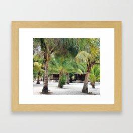 Bungalows on Palm Beach Framed Art Print