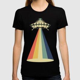 Retro Vintage 1970 1960 UFO Alien Space Conspiracy Tees T-shirt