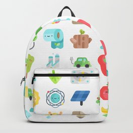CUTE GREEN / ECO / RECYCLE PATTERN Backpack