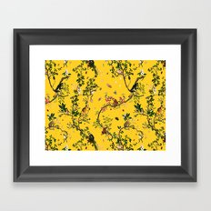 Monkey World Yellow Framed Art Print