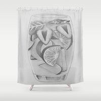 drink Shower Curtains featuring Drink by seekmynebula